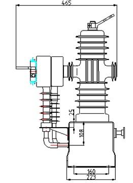 电源变压器(电压pt)可与断路器并排方置或放置在断路